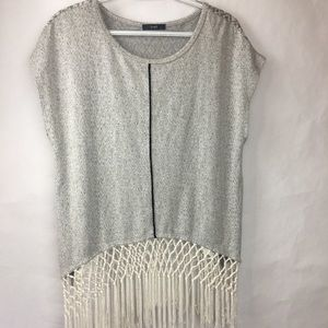 Tops - Tart Color blocked blouse with fringe